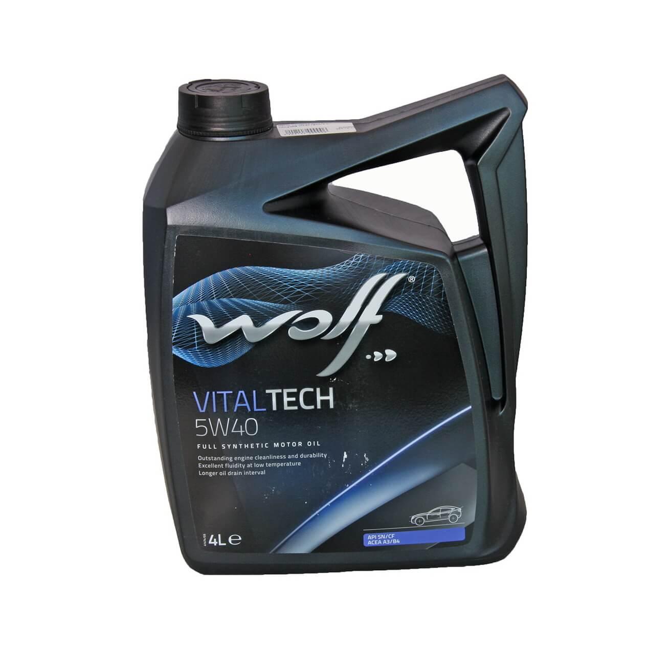 Wolf VITALTECH 5W-40 4л