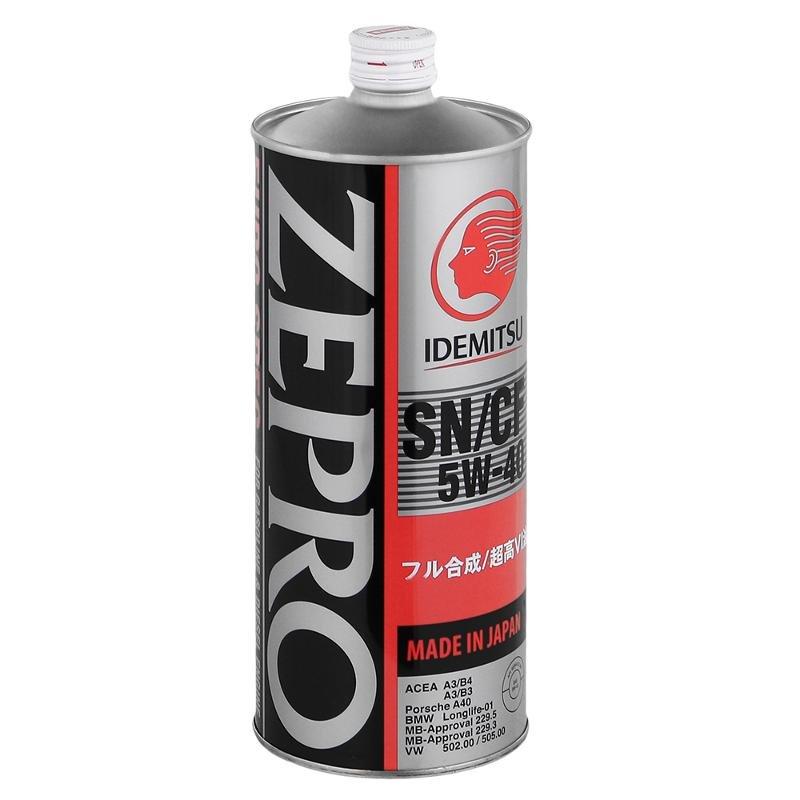 IDEMITSU ZEPRO EURO SPEC SN/CF 5W-40 1л (ж/б)