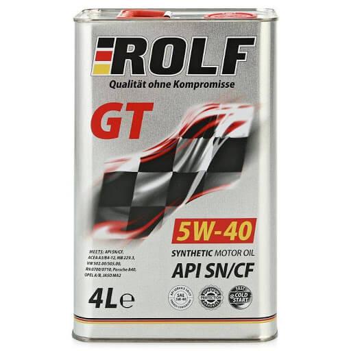 ROLF GT 5W40 SN/CF 4л cинт