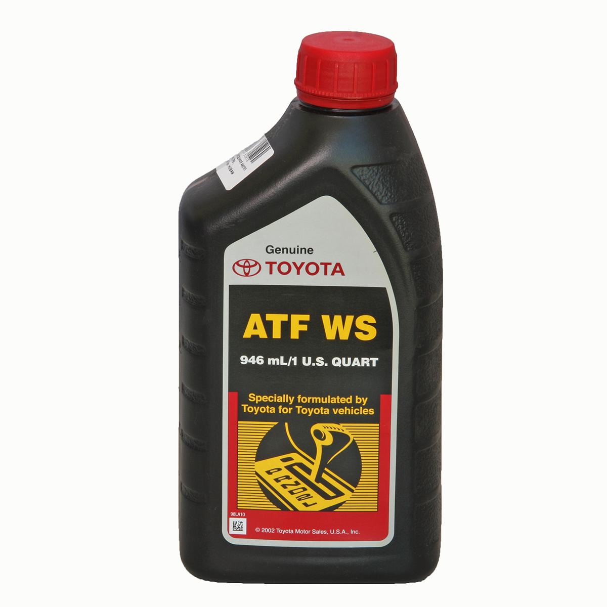 Масло трансмиссионное Toyota ATF WS 0,946л.