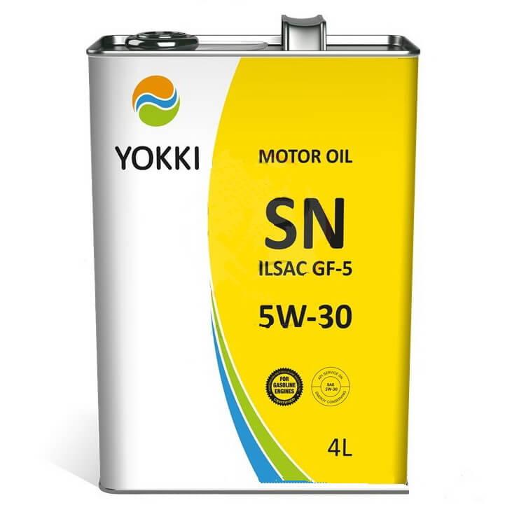 YAE30-1001P YOKKI SAE 5W30 API SN 4л ж/б