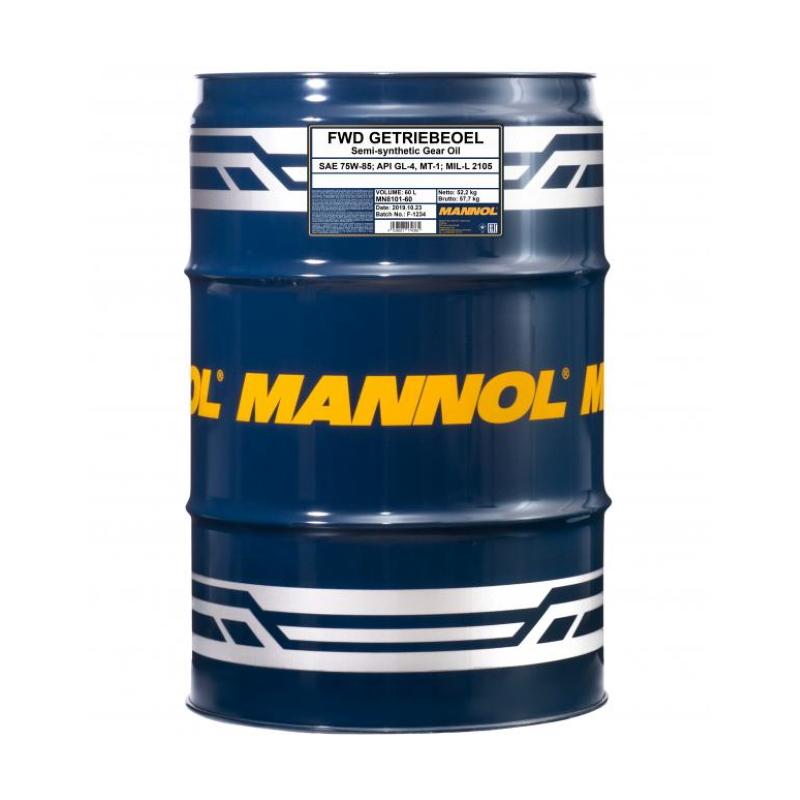 Масло трансмиссионное Mannol FWD Getriebeoel 75W-85 60л, л