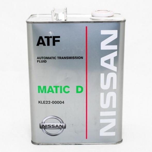 Масло трансмиссионное Nissan ATF Matic D 4л.